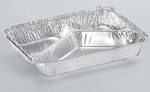 Barquettes en aluminium alimentaire à trois compartiments  SC3L